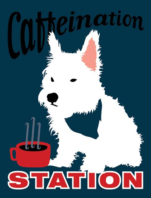 dog caffeine poster