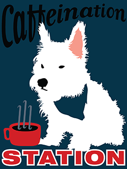 Mr. Elwood (west highland terrier aka westie)