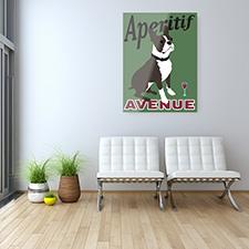 aperitif dog metal print