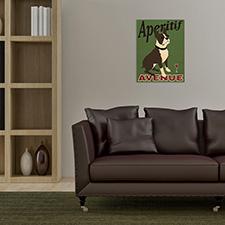 aeritif dog wooden print