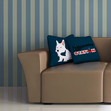 coffee dog pillows