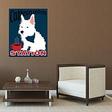 coffee dog poster