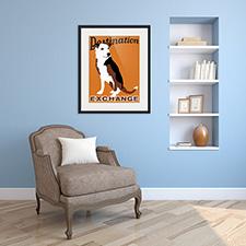 destination dog framed print
