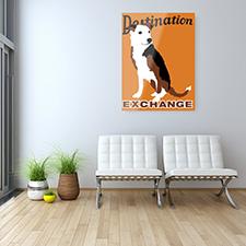 destination dog metal print